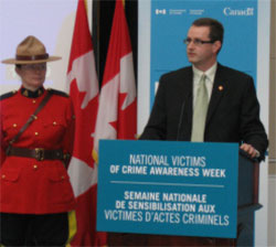Steve Sullivan, speaking at the official launch ceremony of National Victims of Crime Awareness Week